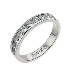 Leo Diamond platinum 1/2ct I-P1 diamond eternity band - Product number 4072952