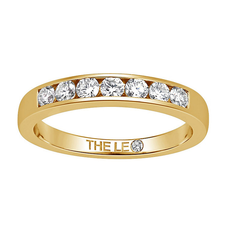 Leo Diamond 18ct gold 1/3ct I-I1 channel set diamond band - Product number 4073088