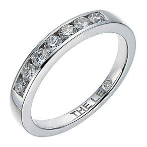 Leo Diamond Platinum 0.33ct  I I1 Channel Set Band - Product number 4073347