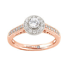 Leo Diamond 18ct rose gold 1/2ct I-I1 diamond vintage ring - Product number 4073487