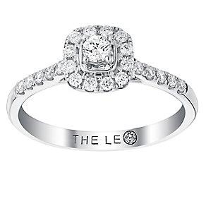 Leo Diamond 0.33ct  I I1 Cushion Halo Ring - Product number 4074157