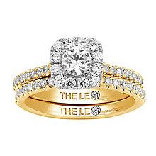 Leo Diamond 18ct gold 1ct I-I1 diamond bridal set - Product number 4074297