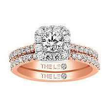 Leo Diamond 18ct rose gold 1ct I-I1 diamond bridal set - Product number 4074424