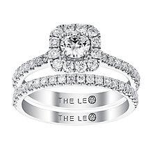 Leo Diamond platinum 1ct I-I1 diamond bridal set - Product number 4074556