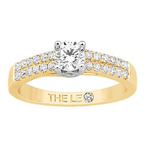 Leo Diamond 18ct gold 2/3ct I-I1 diamond solitaire ring - Product number 4074688