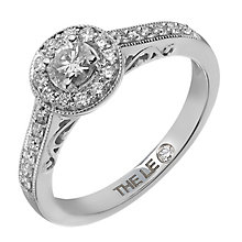 Leo Diamond platinum 0.50ct I-I1 diamond vintage halo ring - Product number 4075404