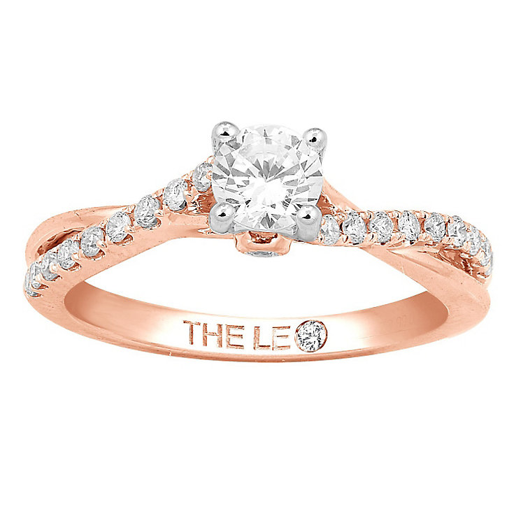 Leo Diamond 18ct rose gold 2/3ct I-I1 diamond solitaire ring - Product number 4075676