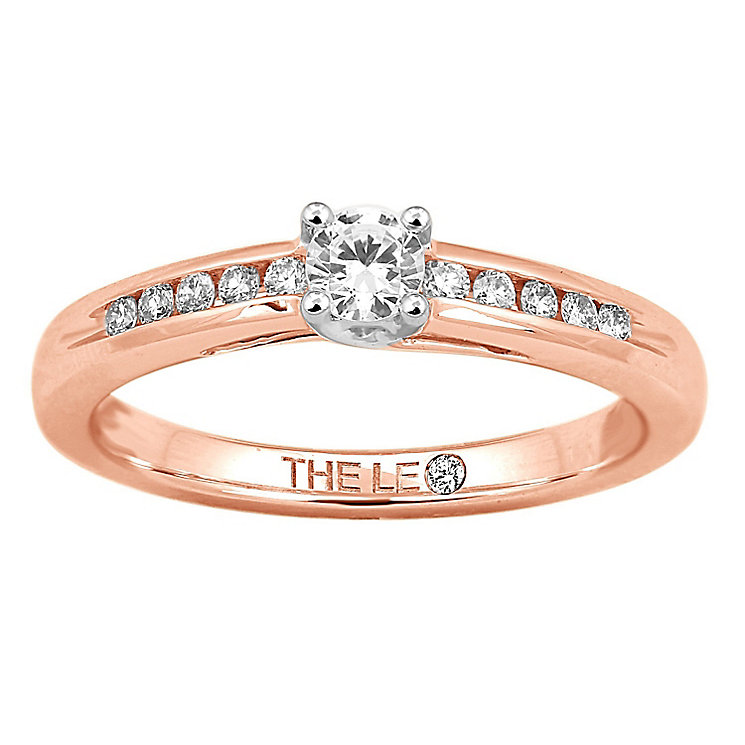 Leo Diamond 18ct rose gold 1/4ct I-I1 diamond solitaire ring - Product number 4076125