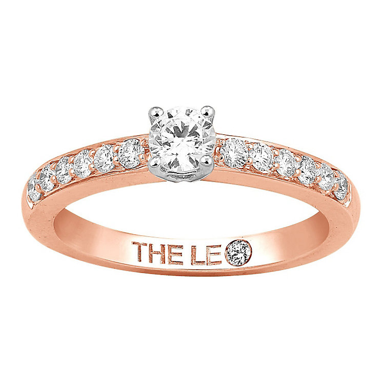 Leo Diamond 18ct rose gold 1/2ct I-I1 diamond solitaire ring - Product number 4077350