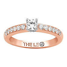 Leo Diamond 18ct rose gold 0.50ct I-I1 diamond ring - Product number 4077350