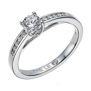 Leo Diamond platinum 0.40ct I-I1 diamond solitaire ring - Product number 4077628