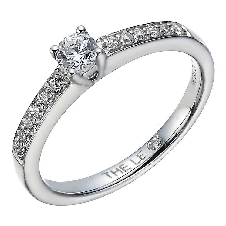 Leo Diamond platinum 1/3ct I-I1 diamond solitaire ring - Product number 4077741