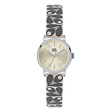 Orla Kiely Ladies' Silver Dial Grey Leather Strap Watch - Product number 4078624