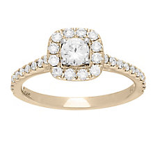 Neil Lane 14ct gold 0.75ct diamond halo ring - Product number 4081676