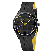Calvin Klein Men's Ion Plated Black Rubber Strap Watch - Product number 4082850