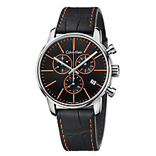 Calvin Klein City Men's Stainless Sleel Black Strap Watch - Product number 4082877