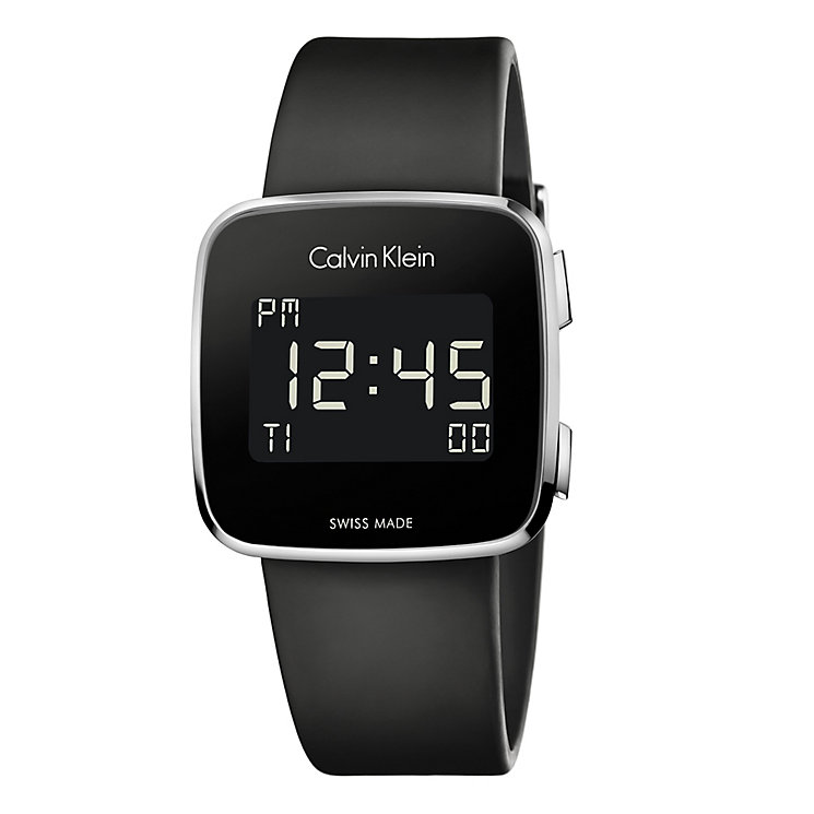 Calvin Klein Future Men's Square Digital Strap Watch - Product number 4082958