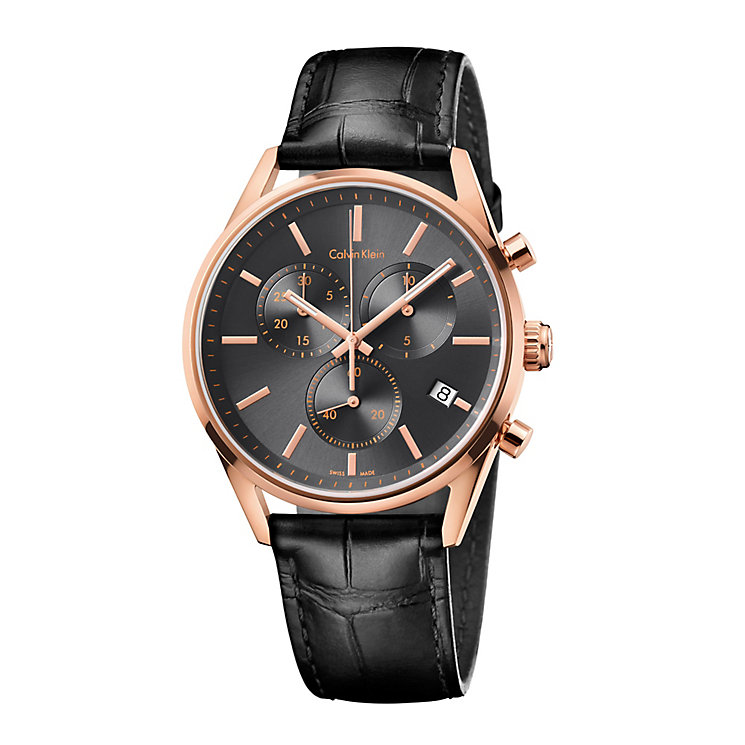 Calvin Klein Formality Men's Rose Gold Plated Strap Watch - Product number 4083008