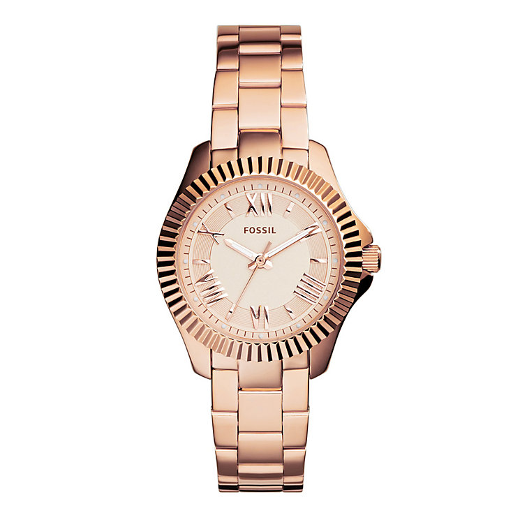 Fossil Cecile Ladies' Rose Gold-tone Bracelet Watch - Product number 4085787