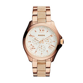 Fossil Cecile Ladies' Multi Dial Sand Leather Strap - Product number 4085795