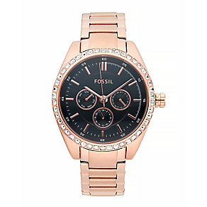 Fossil Ladies Rose Gold-plated  Bracelet Watch - Product number 4085809