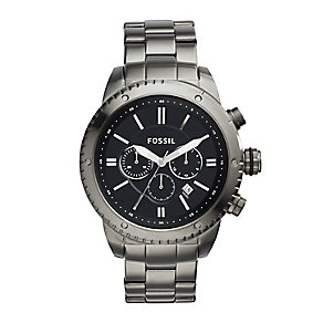 Fossil Men's Ion-plated Black Dial Bracelet Watch - Product number 4085825