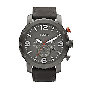 Fossil Nate Men's Ion-plated Grey Dial Strap Watch - Product number 4085930