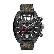 Diesel Men's Black Denim Strap Watch - Product number 4088352