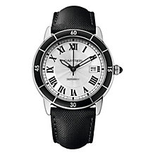 Cartier Ronde Men's Stainless Steel Strap Watch - Product number 4088573
