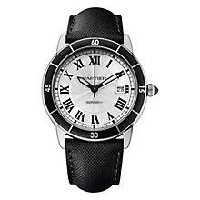 cartier watches ernest jones cartier ronde men s stainless steel strap watch product number 4088573