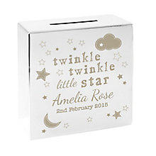 Twinkle Twinkle Square Money Box - Product number 4095235