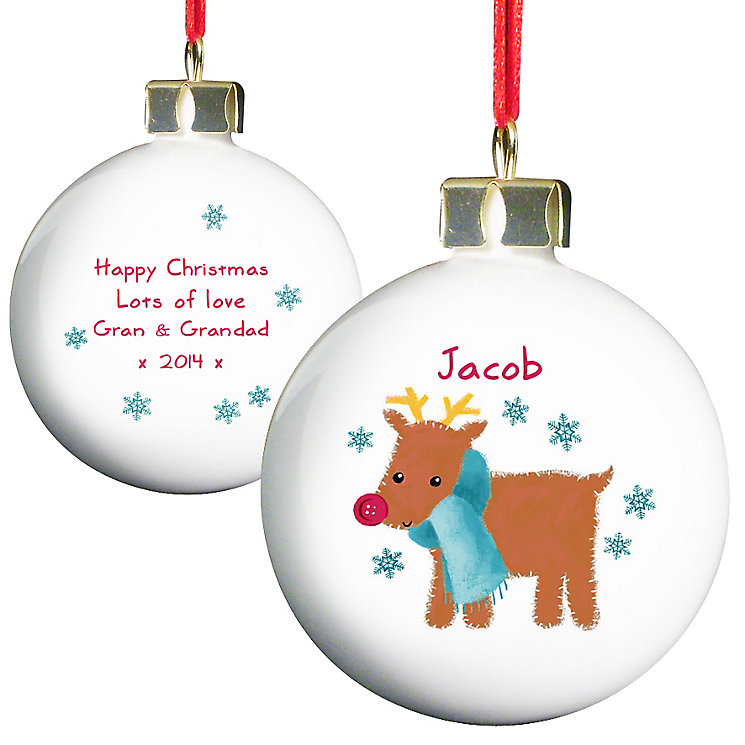 Felt Stitch Reindeer Bauble - Product number 4095987
