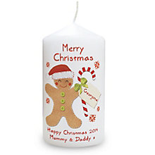 Felt Stitch Gingerbread Man Candle - Product number 4096169