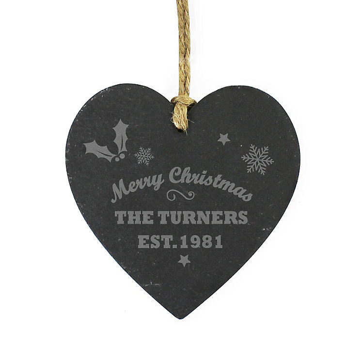 Merry Christmas Slate Heart - Product number 4096576