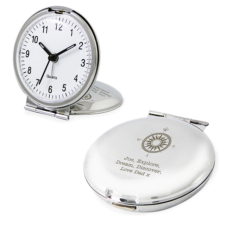 Compass Round Travel Clock - Product number 4098420