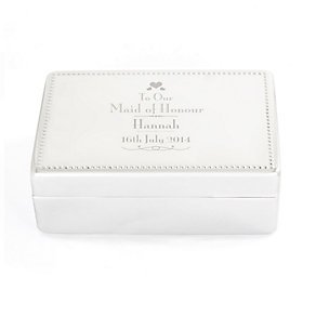 Decorative Wedding Maid of Honour Jewellery Box - Product number 4098838