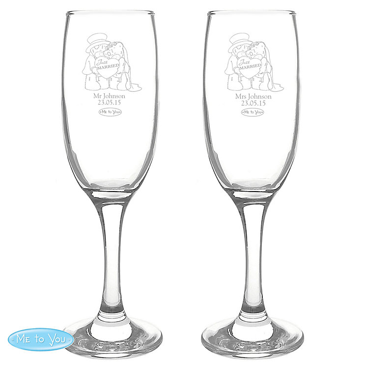 Me To You Engraved Wedding Pair of Flutes - Product number 4098994