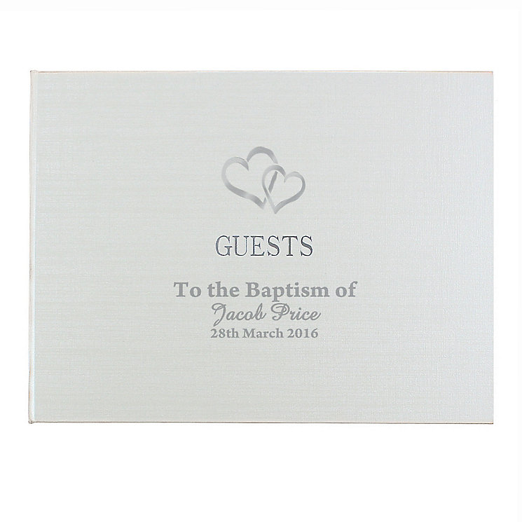 Hardback Guest Book Hearts Design - Product number 4099125