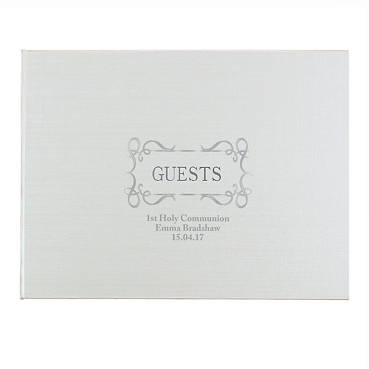 Hardback Guest Book Swirl Design - Product number 4099168