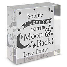 To the Moon and Back... Medium Crystal Token - Product number 4102290