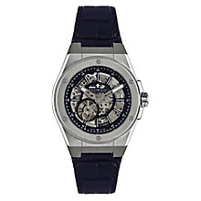 Dreyfuss and Co 1953 Men's Skeleton Blue Strap Watch - Product number 4106172
