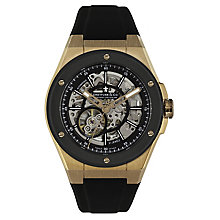 Dreyfuss and Co 1953 Men's Skeleton Rubber Strap Watch - Product number 4106180
