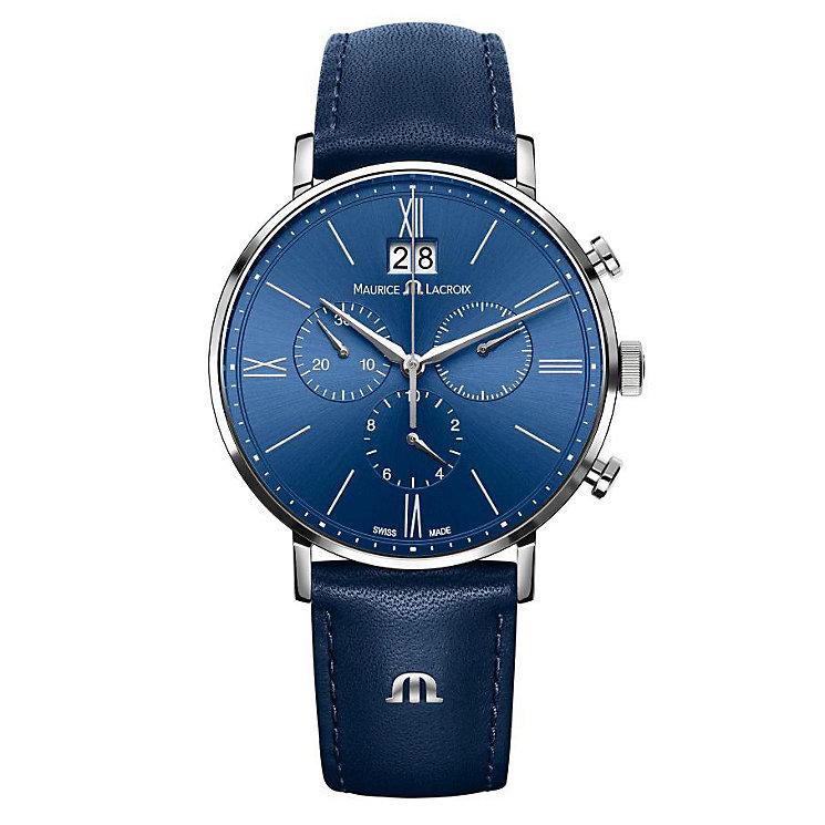 Maurice Lacroix Eliros Men's Blue Strap Watch - Product number 4108868