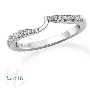 Ever Us 14ct White Gold 0.08ct Diamond Band - Product number 4108930