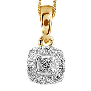 Leo Diamond 18ct gold 0.20ct I-I1 pendant - Product number 4117115