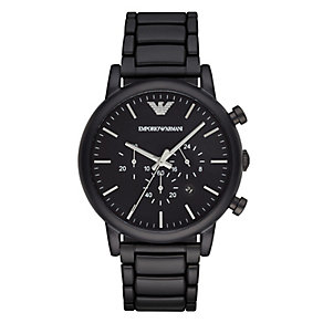 Emporio Armani Men's Ion Plated Black Bracelet Watch - Product number 4119266