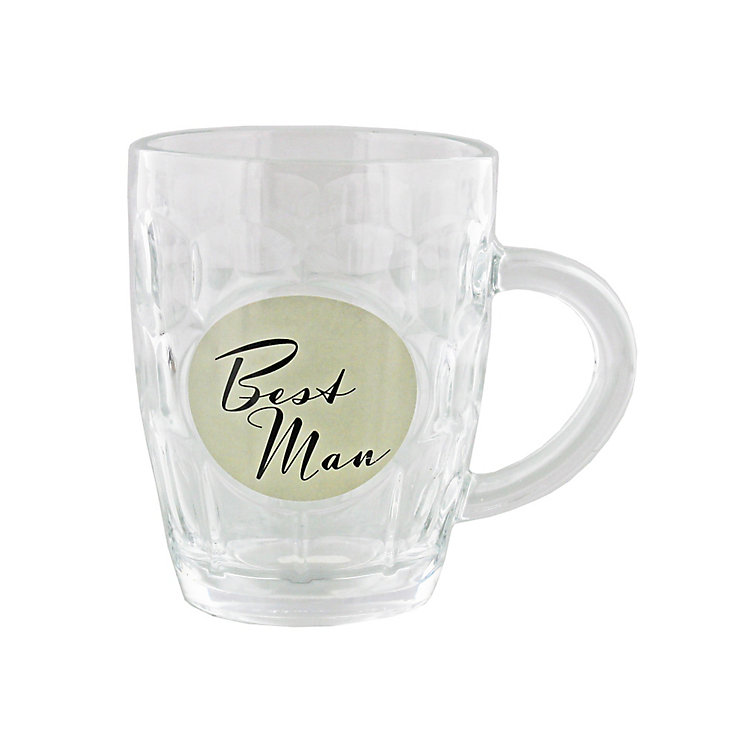 Best Man Glass Tankard - Product number 4127757
