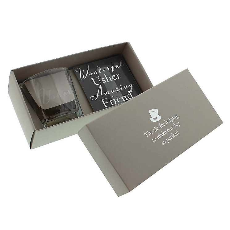 Whisky Glass & Coaster For Usher - Product number 4127773