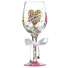 Lolita Just Married Standard Wedding Wine Glass - Product number 4127919