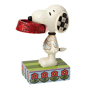 Peanuts Snoopy With Dog Dish Figurine - Product number 4131452